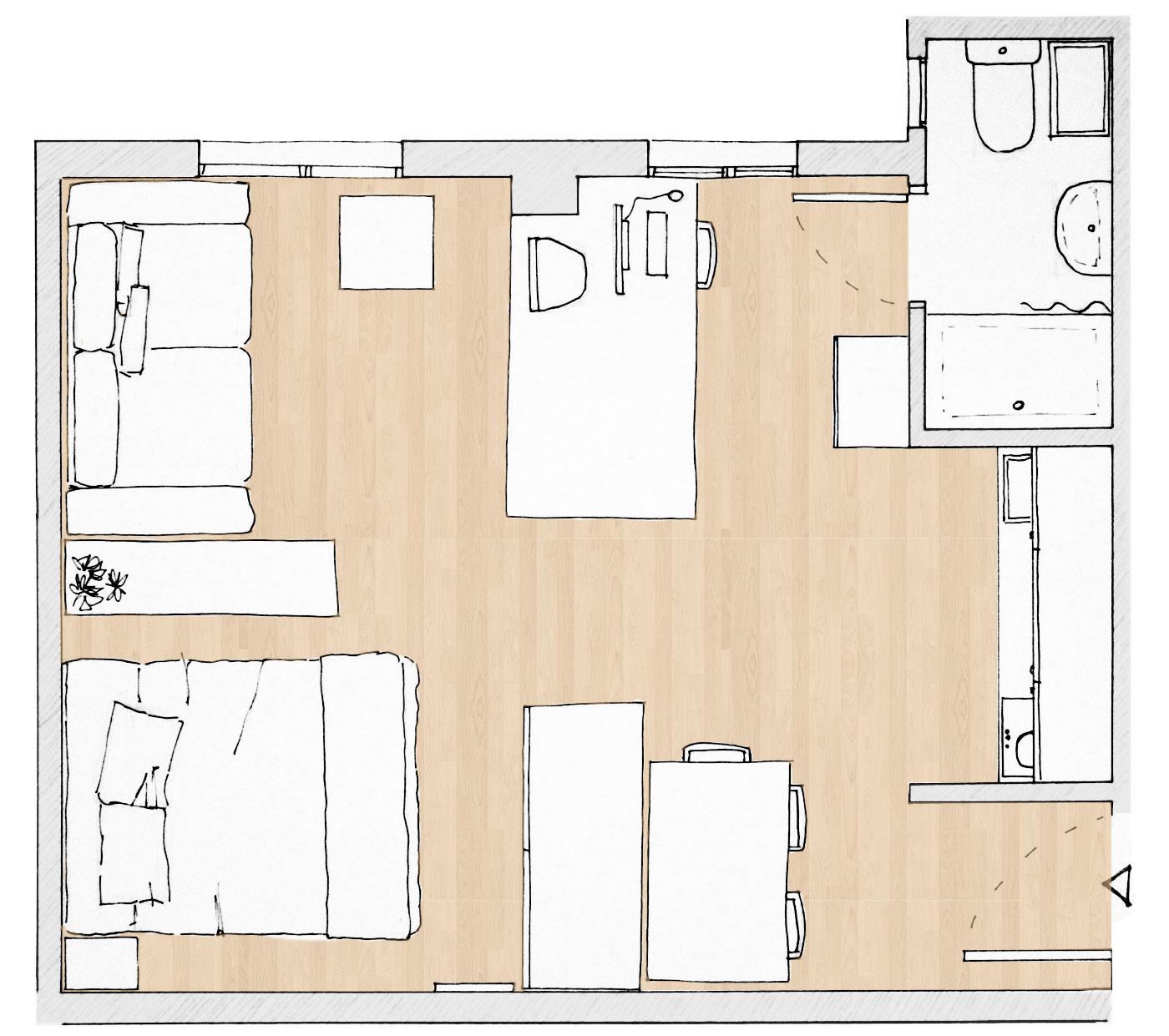 Home sweet home superkitina for Vivir en 25 metros cuadrados