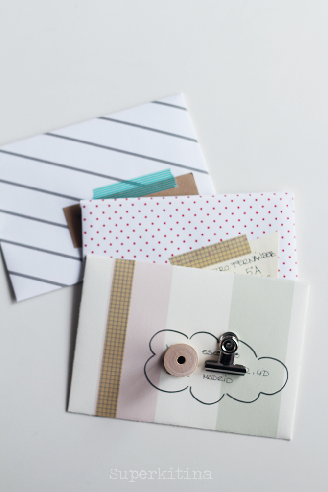 Superkitina snailmail cartas handmade