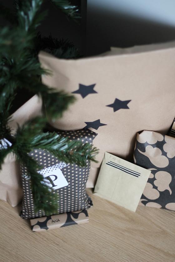 Superkitina paquetes navidad negro y kraft