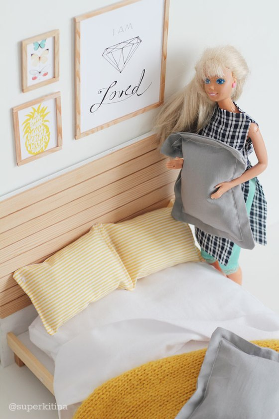 Barbie handmade furniture bed cama para barbie